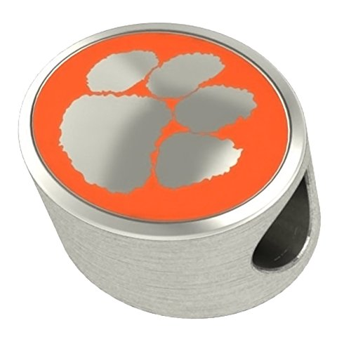 Clemson Tigers Bead Fits All Beaded Charm Bracelets