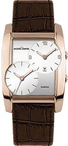 Jacques Lemans Herren-Armbanduhr Classic Analog Quarz Leder 1-1460D