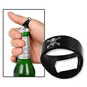skull bottle opener ring bottle opener. Black Bedroom Furniture Sets. Home Design Ideas