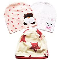KF Baby Beanie Hat [Set of 3], for Girls