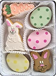 Beautiful Sweets Easter Bunny Organic Cookies, 8 Cookies
