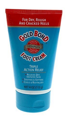 Gold Bond Foot Cream, Triple Action Relief, 4-Ounce Tubes (Pack of 3)