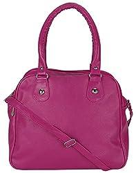 Mukul Collection Women's Shoulder Handbags Pink (mc-hb-001)