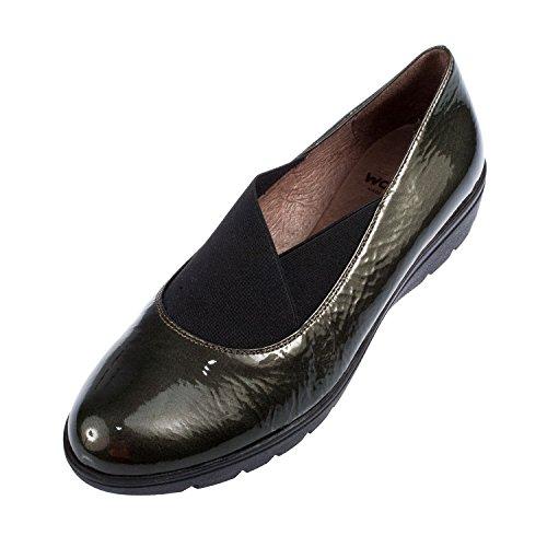 Wonders Donna Sumatra in pelle antiscivolo su scarpe (a-1375), (PINO), 39 EU