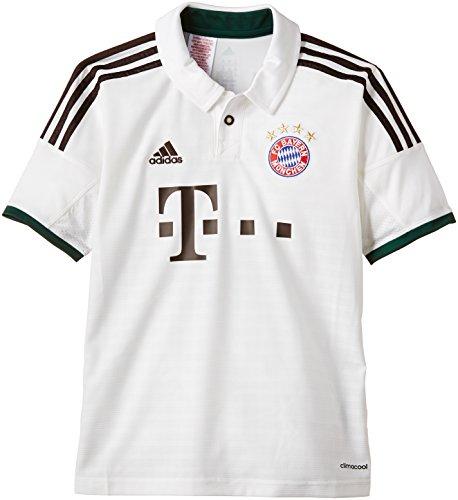 adidas Maglia da trasferta FC Bayern Monaco 2013/2014, Multicolore (runwhi/musbro/dgreen), 176