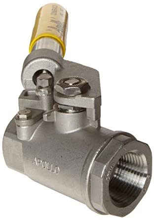 Apollo 76-500 Series Stainless Steel Ball Valve, Two Piece, Inline, Spring Return Lever, NPT Female