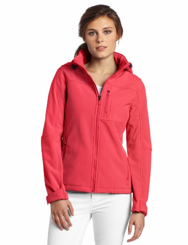 416C5lXCCkL Calvin Klein Performance Womens Soft Shell Hoody Zip Jacket, Atomic Pink, Large HOT OFFER