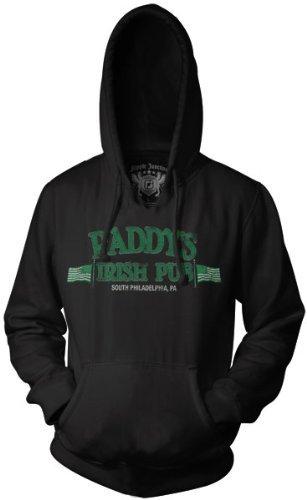 It's Always Sunny In Philadelphia Paddy's Pub Black Adult Hoodie L
