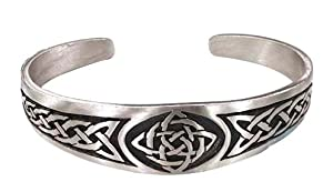 Classic Celtic Knot Design Irish Pewter Bracelet