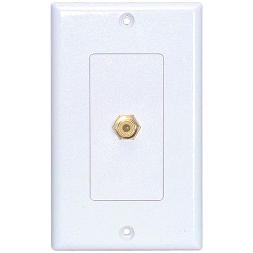 Wired Home Wp-1Rca Wallplate Single Rca Yellow Solder Tab