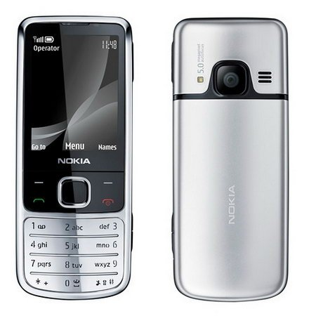 Unlocked Nokia 6700C Original Genuine Classic Bar Metal Mobile Phone (Light Gray)