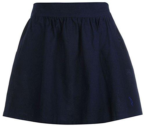ladies-summer-casual-woven-cotton-skater-skirt-16-navy