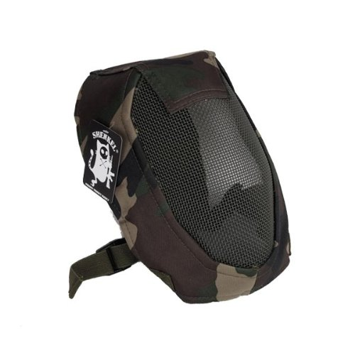 SHENKEL フルフェイス メッシュマスク サバイバルゲーム 被弾防止マスク ウッドランド