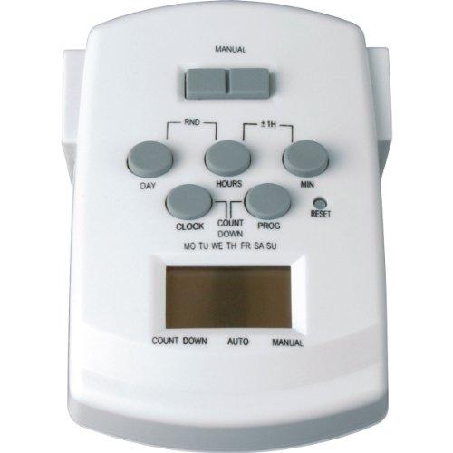 Progress Lighting P8531-01 Digital Plug In Timer, White