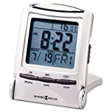 Distant Time Traveler Alarm Clock, 2-1/4in, Silver, 1 AAA (incl), Sold as One Each