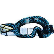 Fly Racing Zone Adult Motocross/Off-Road/Dirt Bike Motorcycle Goggles Eyewear - Blue/Black/Clear / One Size