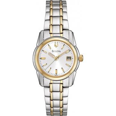 Bulova 98M105 Ladies Dress Two Tone Watch