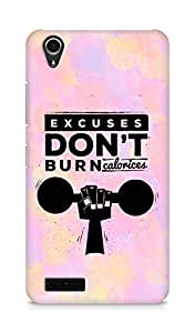 Amez Excuses don't burn Calories Back Cover For Lenovo A3900