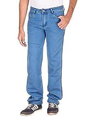 Fame Denim Lycra Regular Fit Casual Man's Dark Brown Jeans