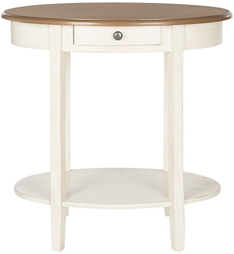 Safavieh American Home Collection Monica Oval End Table, Antique White