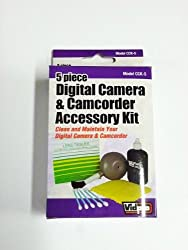 Kodak Mini Video Camera Camcorder Cleaning Kit Dust Blower Brush, Bottled Lens Solution, Non-Abrasive Cleaning Cloth, 25 Pack Lens Tissue, 5 Cotton Swabs