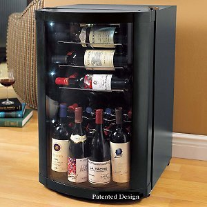 VinoView Silent 35 Bottle Wine Display Refrigerator -Graphite Trim Door