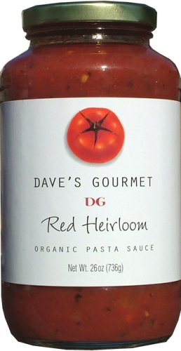 Dave's Gourmet Organic Red Heirloom Pasta Sauce - 26 Ounces (Daves Gourmet Pasta Sauce compare prices)
