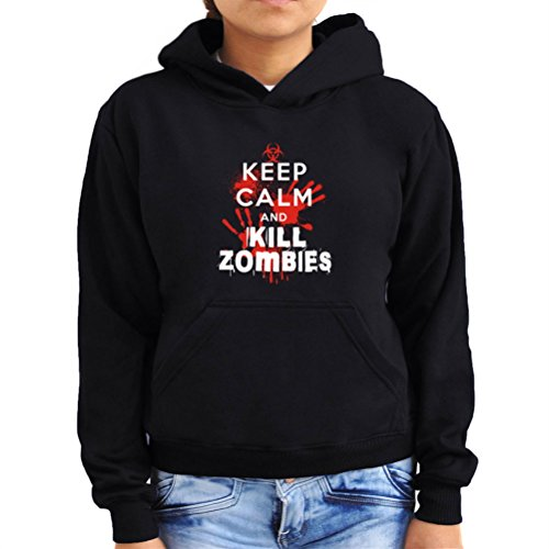 Felpe con cappuccio da donna Keep calm and kill Zombies 2