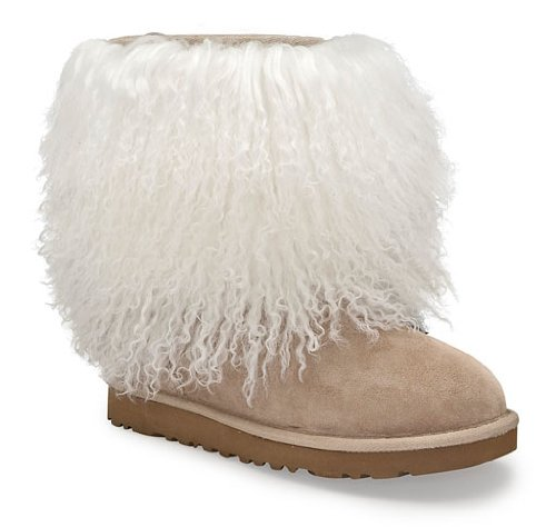 UGG-« Sheepskin Cuff Boot Womens, Size: 8 Color:
