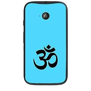 "Skin4gadgets Hinduism Symbol ""OM"" on English Pastel Color-Ocean Blue Phone Skin for MOTO E2"