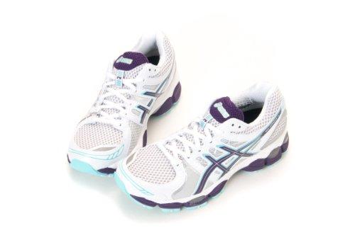 asics gel nimbus 14 white/purple/turquoise