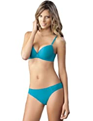 Laura 3 Piece Women's Soft Cup Bra Bikini Seamless technology Thong