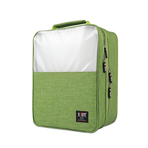 Shoe Bag Travel Organizer, BUBM Shoe storage/ Shoe Cube-Portable Waterproof Shoe Tote Bag Organizer for Travel, Workout, Dancing, Gym-Green (Green Pointe Shoes compare prices)