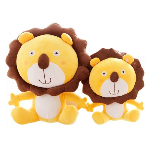 Stuffed Animals Cute Yellow Lions Plush Toy 40 X 27Cm Throw Pillows Unique Gifts front-982187