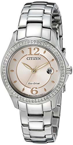Citizen Eco-Drive Women's FE1140-86X Silhouette Crystal Watch