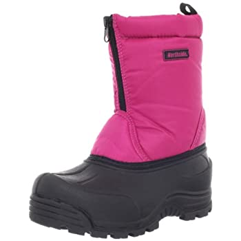 The Northside Icicle Boot offers kids durability and protection from the snow The lower section is made from rubber so they can run kick jump and stomp without blowing out their boots The upper is quilted nylon thats backed with insulation for warmth...