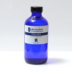 Trichloro Acetic Acid - TCA Peel 40% 8oz. 240ml Pro Size (Level 3 pH 0.8)