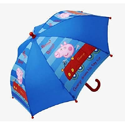 Peppa Pig George Umbrella Navy Blue 'Beep Beep George Drives his toy car' Brolly