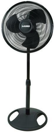 16″ Oscillating Stand Fan With White Earbud Headphones
