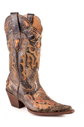 Stetson� Distressed Python Western Boot for Wo