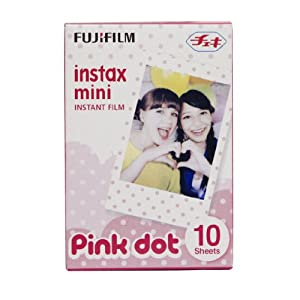 Fuji Instax Mini Films Usable with Polaroid Mio & 300 - Lomo Diana Instant Back - Pink Dot Film -