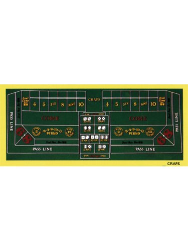 Best Price Las Vegas Craps Table Felt Layout