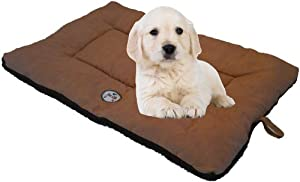 Pet Life Eco-Paw Reversible Pet Bed, Brown/Cocao, Large
