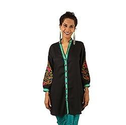 INDRICKA Black colour Bio-silk (Modal) Tunic for womens