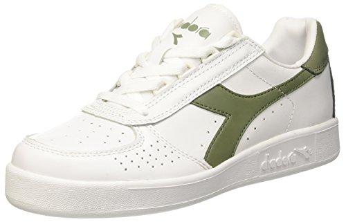 Diadora B.Elite, Scarpe Low-Top Unisex Adulto, Bianco (Bianco/Verde Olivina), 39 EU