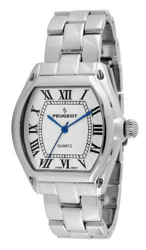 Peugeot Women's 7069S Silver-Tone Roman Numeral Bracelet Watch
