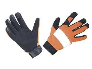 SAS Safety 6363 Reflective Gloves, Orange, Large