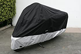 "Heavy Duty Motorcycle cover (XXL). Includes cable & lock. Fits up to 108"" length Large cruiser, Tourer, Chopper."