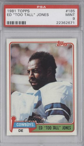 Ed Jones PSA GRADED 9 Dallas Cowboys (Football Card) 1981 Topps #185 at Amazon.com