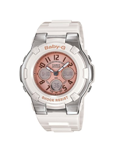 Casio Women's BGA110-7B2 Baby-G Shock Resistant White Multi-Function Sport Watch